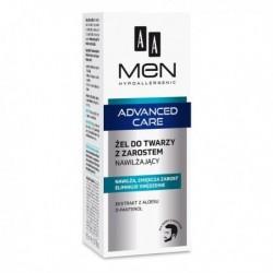 AA Men Advanced Care // Zel do twarzy z zarostem nawilzajacy / Nawilza,zmiekcza zarost, eliminuje swedzenie