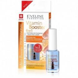 Eveline VITAMIN BOOSTER 6w1 /Odzywka do paznokci +baza pod lakier / Blyskawicznie wzmacnia i odbudowuje zniszczone paznokcie