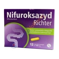NIFUROKSAZYD RICHTER ostre i przewlekle biegunki