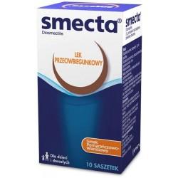 SMECTA 10saszetek //  Lek o działaniu przeciwbiegunkowym // dla dzieci i doroslych o smaku pomaranczowo-waniliowym