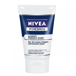 NIVEA FOR MEN LAGODNY Zel do mycia twarzy // o neutralnym zapachu, nie zawiera mydla // delikatnie oczyszcza i chroni skore