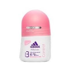 ADIDAS ROLL-ON CONTROL dla kobiet 24h anti-perspirant // DRY MAX SYSTEM anti-whitening // 50 ml