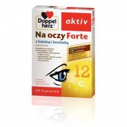 Doppelherz activ NA OCZY FORTE z luteina i borowka // Wspomaganie ostrosci wzroku, ochrona siatkowki i soczewki oka // 30kaps