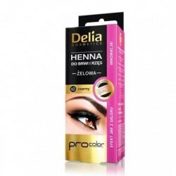 Delia HENNA do brwi i rzes // ZELOWA kolor 1.0 CZARNY // Profesjonalna jakosc, innowacja