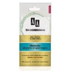 AA Maseczka aktywnie oczyszczajaca / Biala glinka, tlenek cynku / 0% alergenow, barwnikow, parabenow